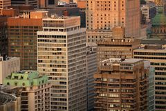 Buildings in Montreal city Royalty Free Stock Photo