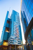 buildings of Moscow business center Moscow - city Stock Photos