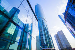 buildings of Moscow business center Moscow - city Stock Photo