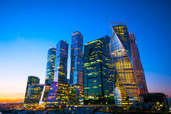 Buildings of Moscow business center Stock Images