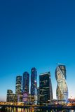 Buildings Of Moscow City Complex Of Skyscrapers At Royalty Free Stock Photos
