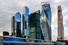 Buildings in Moscow City. Moscow International Business Center. Stock Images