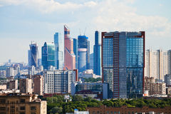 Buildings of Moscow City Stock Photos