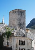 Buildings in Mostar Royalty Free Stock Photos