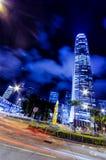 Motion blur of traffic in Hong Kong Royalty Free Stock Image