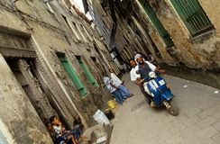 Buildings in the narrow streets of Zanzibar Stock Photos