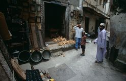 Buildings in the narrow streets of Zanzibar Stock Photography