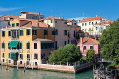 Buildings near the Grand Canal in Venice Royalty Free Stock Images