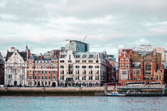 Buildings near Millennium Bridge in London, England Royalty Free Stock Images