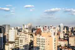 Buildings near Paulista Avenue, in Sao Paulo, Brazil Brasil Royalty Free Stock Photo