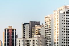 Buildings near Paulista Avenue in Sao Paulo, Brazil Royalty Free Stock Image