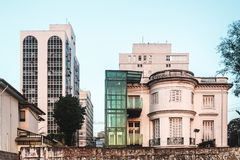 Buildings near Paulista Avenue in Sao Paulo, Brazil Royalty Free Stock Images