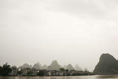 Buildings near river at china Stock Image