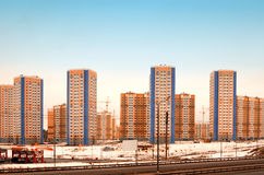Buildings in new Domodedovo. District Royalty Free Stock Photo