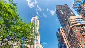 Buildings of New York City, Fifth Avenue, Manhattan Stock Photos