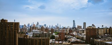 New York City Skyline on a sunny day. Buildings in New York City on a sunny day in June Royalty Free Stock Images