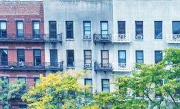 Buildings of New York in foliage season Royalty Free Stock Photos