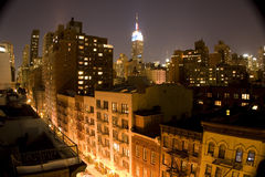 Buildings at night royalty free stock photography