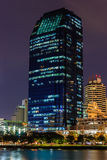 Buildings at night cityscape Royalty Free Stock Photo