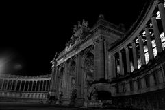 Buildings in the night collection 13. Night photography of some buildings in Brussels Royalty Free Stock Photography