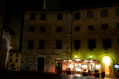 Buildings at night in San Gimignano city in Italy Royalty Free Stock Photography