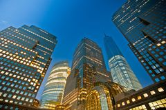Buildings night view stock images