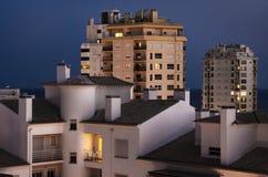 Buildings At Nightfall Stock Photos