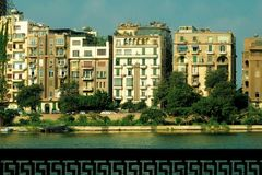 Buildings on the Nile, Cairo, Egypt royalty free stock image