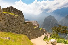 Buildings of the nobles Machu Picchu Peru stock photos