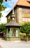 Buildings at Norsk Folkenmuseum. Oslo, Norway-August 13, 2014 - Outdoor exhibition at Norsk Folkemuseum royalty free stock photography