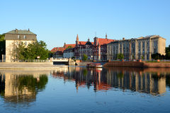 Buildings at Odra river in Wroclaw, Poland Stock Photos