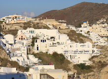 Buildings of Oia,Santorini Stock Photography