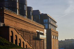 The buildings of the old brewery with red brick Royalty Free Stock Photo