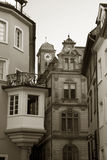 Buildings in old city. Photo of old-style buildings in germany Stock Photography