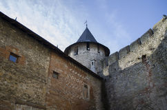Buildings in old fortress Hotin Ukraine. ! Royalty Free Stock Images