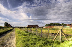 The buildings in the old historic farm Royalty Free Stock Images