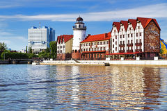 Buildings in the old and new style, Koenigsberg Royalty Free Stock Photography