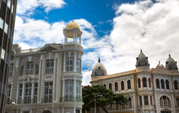Buildings in Old Recife, located in Pernambuco state, Brazil Royalty Free Stock Photo