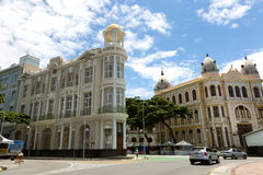 Buildings in Old Recife, located in Pernambuco state, Brazil Royalty Free Stock Images
