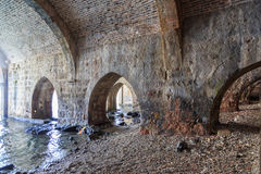 Buildings of old shipyard, that is the part of Alanya fortress Royalty Free Stock Image
