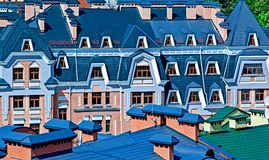 Buildings in old style. Colorful houses in the baroque style Royalty Free Stock Photos