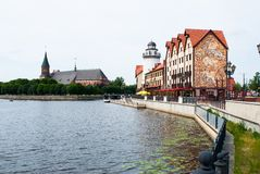Fishers Village in Kaliningrad Royalty Free Stock Image