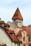 Buildings in old Tallinn. Beautiful buildings in old town of Tallinn Royalty Free Stock Image