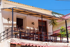 Buildings in the old town of Chania on Crete island, Greece. Royalty Free Stock Photography