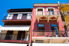 Buildings in the old town of Chania on Crete island, Greece. Royalty Free Stock Photos