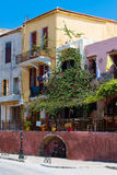 Buildings in the old town of Chania on Crete island, Greece. Royalty Free Stock Image