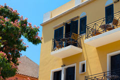 Buildings in the old town of Chania on Crete island, Greece. Stock Photo