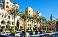 Buildings on the Old Town Island in Dubai Royalty Free Stock Image