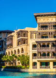 Buildings on the Old Town Island in Dubai Stock Photo