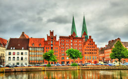 Buildings in the old town of Lubeck - Germany Stock Image